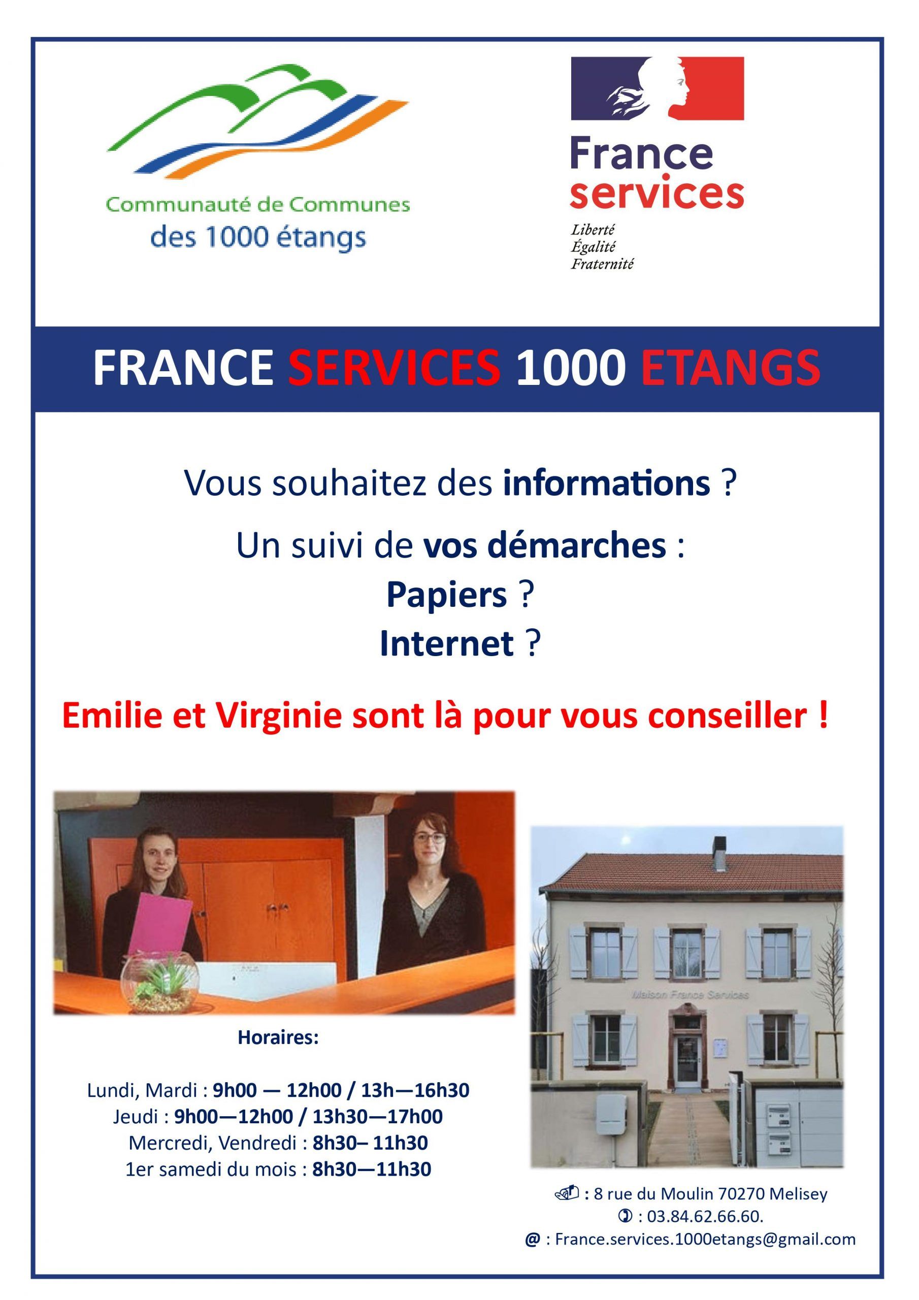 Affiche France Services 1000 Etangs