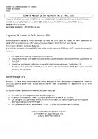 COMPTE RENDU du 21 Mai 2021